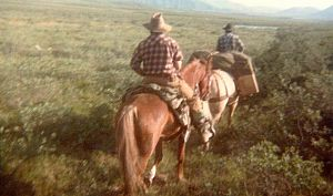 hunting on horseback